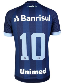 Camisa Oficial Gremio Uniforme 3 Umbro 2017 2018 N° 10 Azul