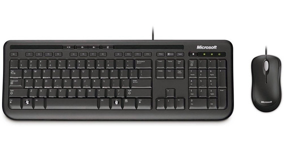 Kit Teclado Mouse Microsoft C/fio Wired Desktop 600 Usb