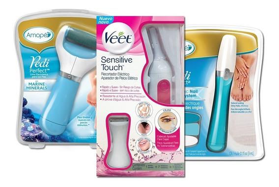 Veet Sensitive Touch + Amopé Exfoliadora + Lima Uñas Combo