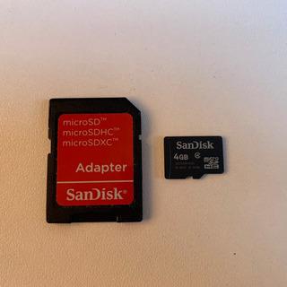 Cartão Memória 4 Gb + Adaptador Sd Memory Stick Sandisk *** Pronta Entrega ***