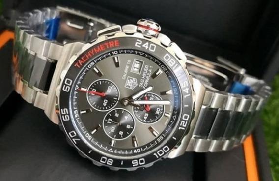 Relógio Masculino Tag F1 Pulseira De Aço