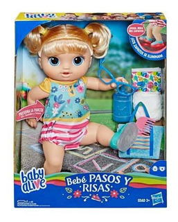 Baby Alive Muñeca Camina Y Ríe Rubia + Envío / Updown
