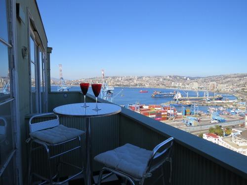 Imagen 1 de 17 de Departamento Patrimonial Vista Espectacular Bahía Valparaíso
