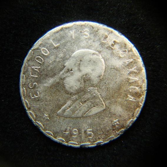 Moneda 1 Peso 1915 Oaxaca Plata Epoca Revolucion