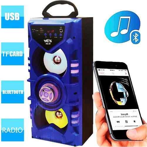 Caixa Som Amplificada Bluetooth Microfone Radio Fm Usb Rd39