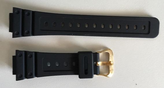 Pulseira Relógio Casio Dw-5600e Preta Série Dourada