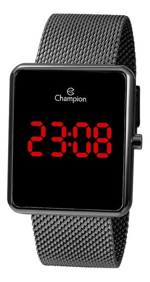 Relógio Champion Feminino Ch40080c Digital Quadrado Led