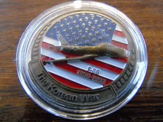 Moneda Medalla Conmemorativa Avión Guerra De Corea