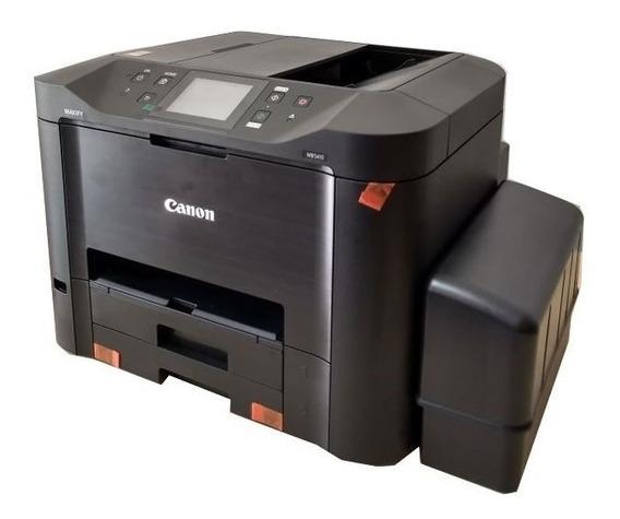 Multifuncional Jato De Tinta Colorida Canon Maxify Mb5410 Bulk Ink Grande Rende + 30 Mil Paginas Impressas Menor Custo