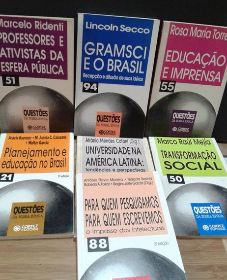Lote 7 Livros Questões Da Nossa Época Secco - Mejía - Torres