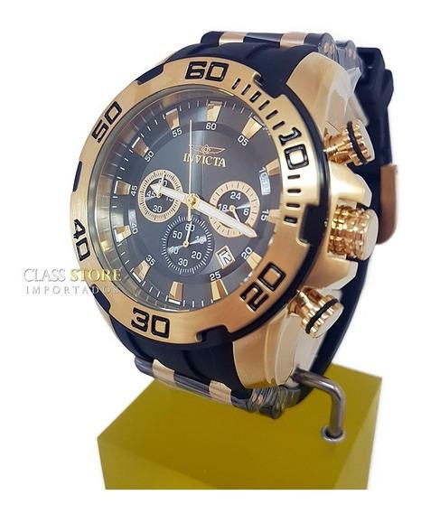 Relógio Invicta 22344 Pro Diver B. Ouro Cronógrafo Original