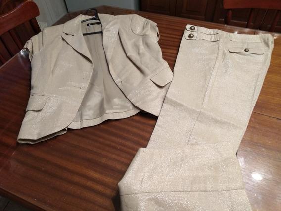 Conjunto Eulalia De Chaqueta Y Pantalon Con Brillo T S/m