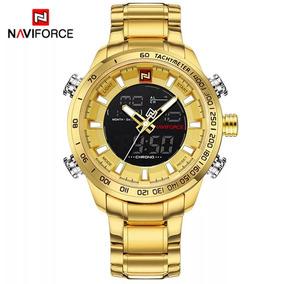Relógio Naviforce Aço Inoxidável Novo Lacrado