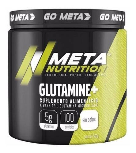 Imagen 1 de 1 de Glutamina Meta Nutrition 500 Gramos (100 Servicios)