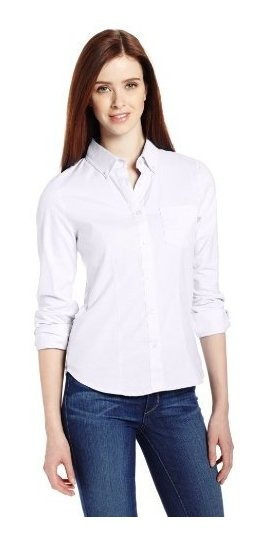 Lee Uniformes Blusa Juvenil De Mangas Largas Estilo Oxford