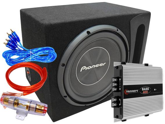 Combo Subwoofer Pioneer 500 W + Potencia + Cajon + Kit 2019