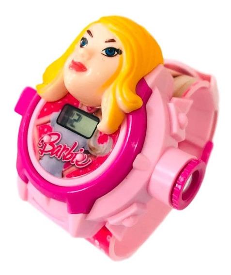 Relógio Infantil Barbie Projetor De Imagem 24 Grids