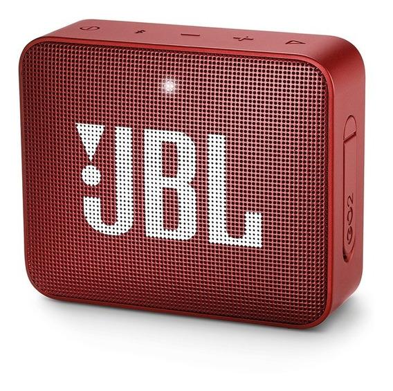 Caixa Portátil Jbl Boxgo2 3w Vermelho Bluetooth Prova D