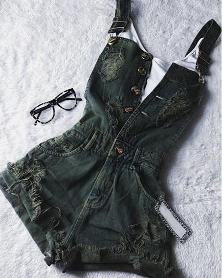 2019 Jeans Jardineira !!só Jardineira *** Sem Cropped **