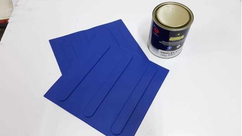 Imagem 1 de 1 de 16 Pçs Piso Direcional Azul Pvc + 1 Lata Cola 700 Gramas