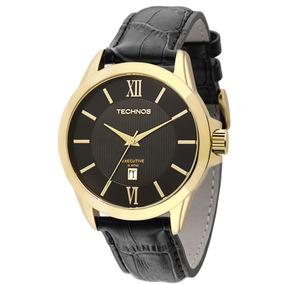 Relógio Technos Masculino De Couro Social 2115knh/0p