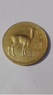 1/2 Sol De Oro - 1973 - Moneda De Colección Del Perú Antiguo