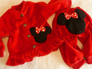 Set Conjunto Beba Minnie Mouse Campera Plush Pantalo Abrigad