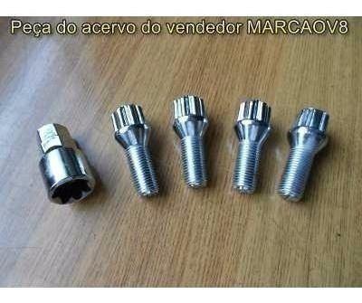 Jogo D Parafusos Cromado Anti Furto Fusca 4 Furos Brasilia,