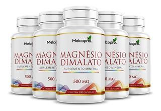 Magnesio Dimalato 500mg 5x 100 Cápsulas Puro Máximo 2/dia