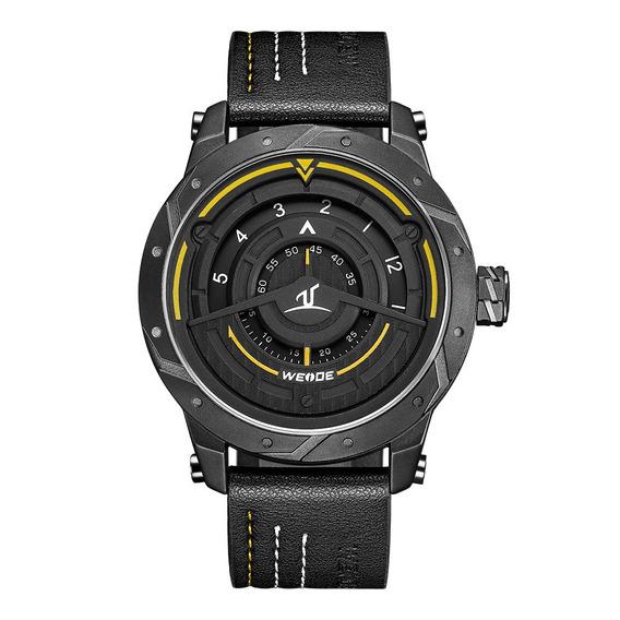 Weide Uv1708 Estilo Casual Relógio Criador Genuíno Couro Cin