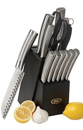 Imagen 1 de 1 de Oster Set De Cuchillos De Cocina De Acero Inoxidable, 14 Pzs