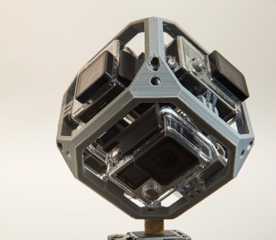 Cubo Suporte Panorama Gopro Hero3+ 4 360 Graus 6 Câmeras