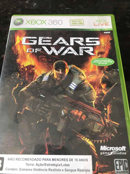 Jogo Xbox 360 Gears Of War Original Mídia Física