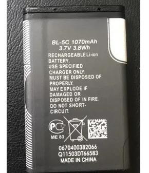 Bateria Bl-5c 3.7v 1020mah Bl5c 3.8wh Recarregavel