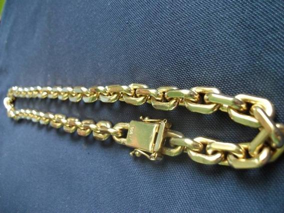 Corrente Ouro 18k Masculina Maciça Cadeado 150grs
