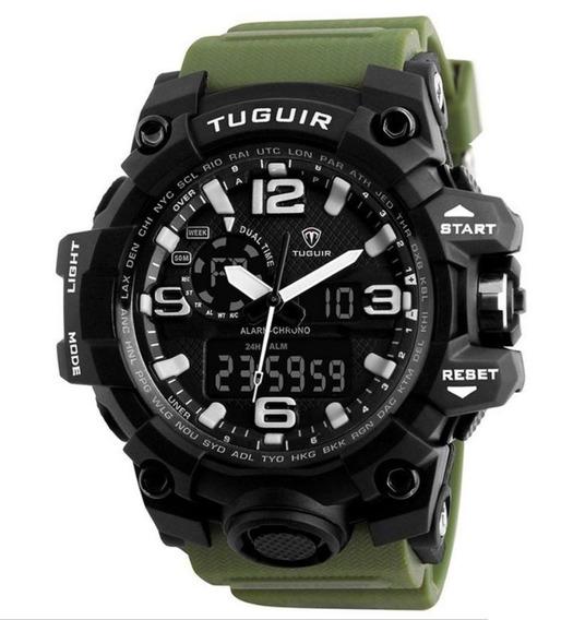 Relógio Masculino Tuguir Tg1155 Militar Digital Prova D`água
