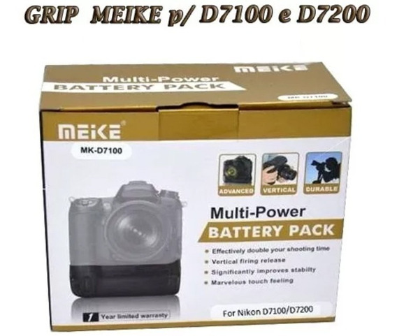 Grip Meike Para Nikon D7100 E D7200