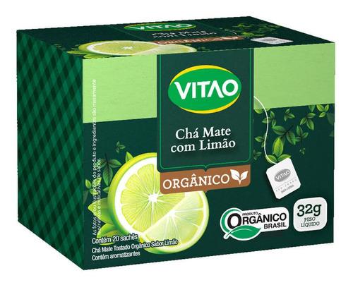 Chá-mate Orgânico Sabor Limão Sachê 32g (01 Cx - 20 Sachês)