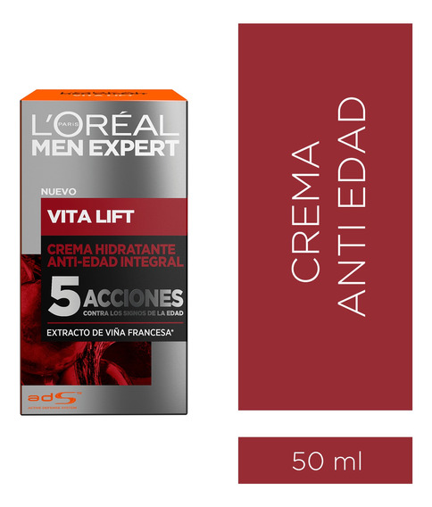 Crema Anti Edad Men Expert Vitalift X 50 Ml