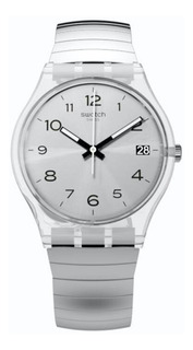 Reloj Swatch Mujer Plateado Silverall Gm416 Talle A Acero Wr