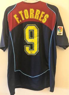 Camisa Do Atlético Madrid Spiderman Autografada F. Torres