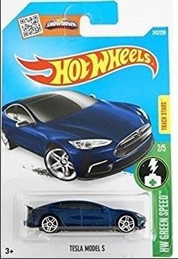Miniatura Hot Wheels Tesla Model S - Série Hw Green Speed !