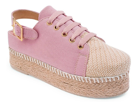 Zapato Casual Para Dama Plataforma Rosa Boga Shoes 650