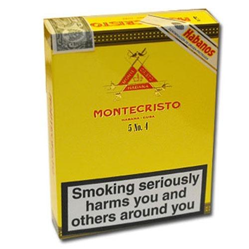 Montecristo Habanos N4 Para Fumar Cigarros Cubanos X Unidad