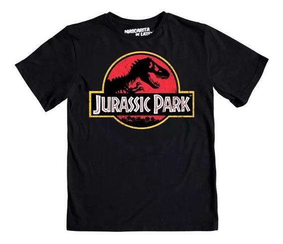 Playera Máscara De Latex Jurassic Park Logo ¡ Envío Gratis!
