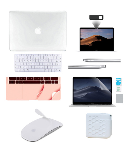 Kit Carcasa Case Español 8 En 1 Macbook Air Pro Retina Touch