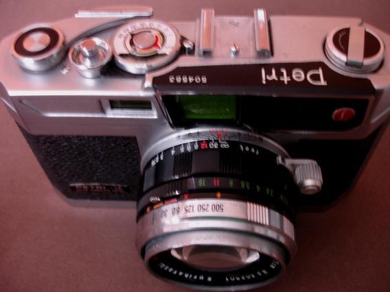 Câmera Fotográfica Antiga Petri 1.9 Muito Bem Conservada