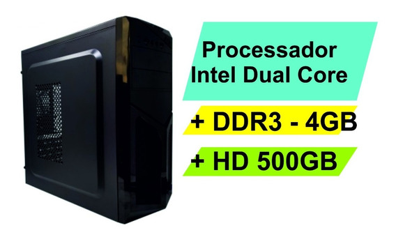 Pc Micro Computador Desktop Intel Dual Core Hd500 4gb Ddr3