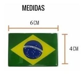 Emblema Adesivo Resinado Bandeira Do Brasil