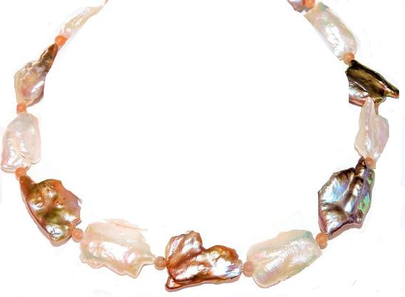 Collar Perla Cultivada Monstra 3 Colores Natural 30 Mm